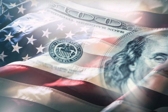 Image of flag and money about va pensions